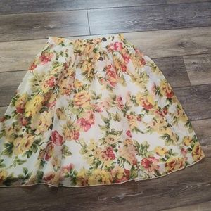 Rampage floral A line skirt